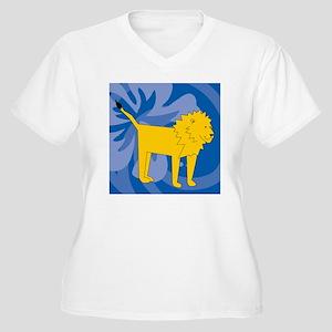 Lion Queen Duvet Women's Plus Size V-Neck T-Shirt