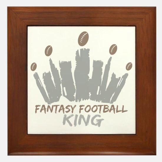 Fantasy Football King Framed Tile