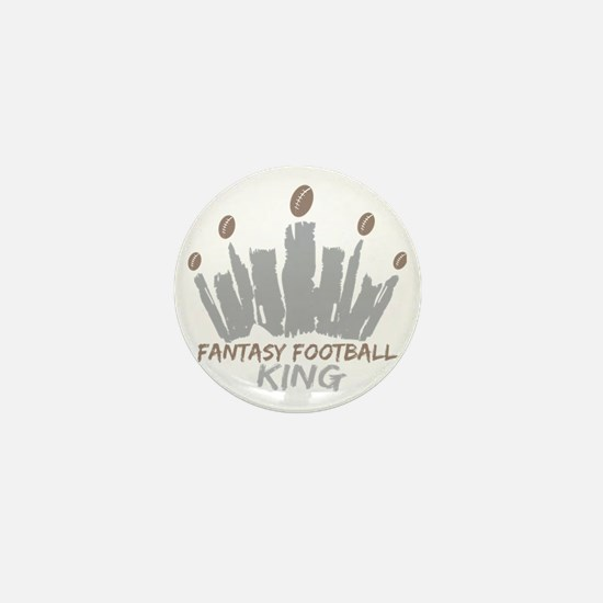 Fantasy Football King Mini Button