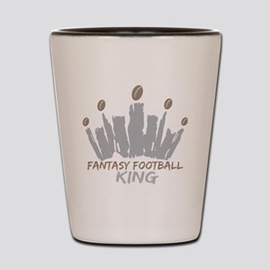 Fantasy Football King Shot Glass
