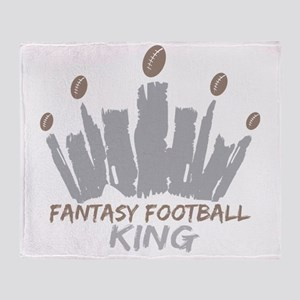Fantasy Football King Throw Blanket