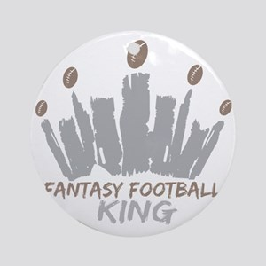 Fantasy Football King Round Ornament