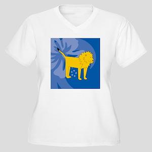 Lion Luggage Hand Women's Plus Size V-Neck T-Shirt
