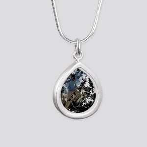 Freestyle parkour Silver Teardrop Necklace