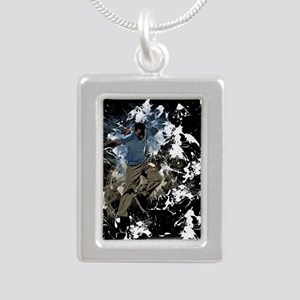 Freestyle parkour Silver Portrait Necklace