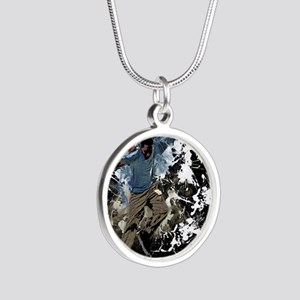 Freestyle parkour Silver Round Necklace
