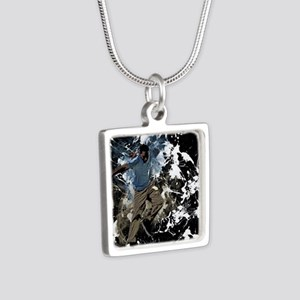 Freestyle parkour Silver Square Necklace