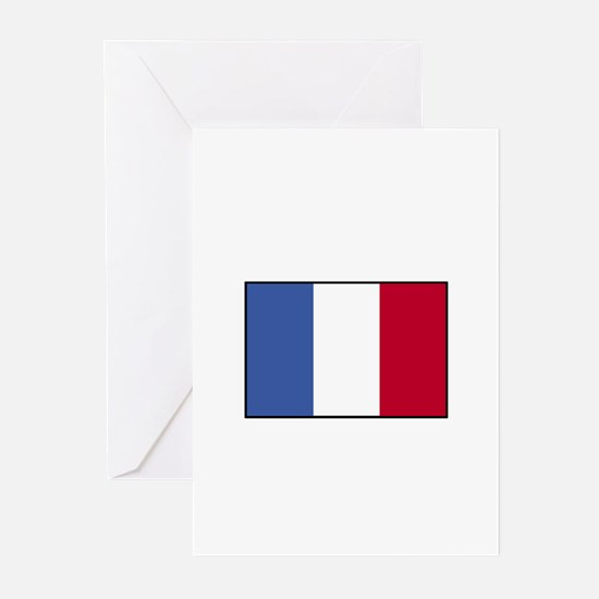 France - French Flag Greeting Cards (Pk of 10)