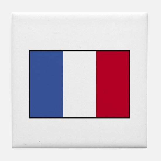 France - French Flag Tile Coaster