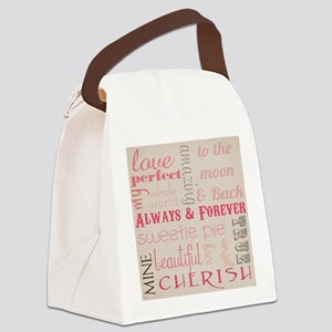 Vintage Chick Always Forever Canvas Lunch Bag