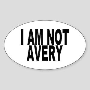 Not Paul Avery Oval Sticker