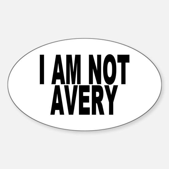 Not Paul Avery Oval Decal