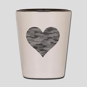 Grey Camo Heart Shot Glass