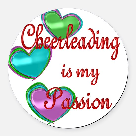Cheerleading Passion Round Car Magnet