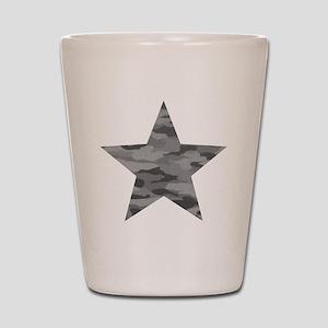 Grey Camo Star Shot Glass