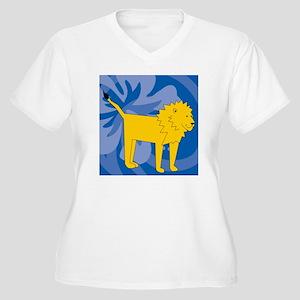 Lion Shower Curta Women's Plus Size V-Neck T-Shirt