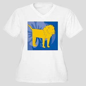 Lion Mens Wallet Women's Plus Size V-Neck T-Shirt