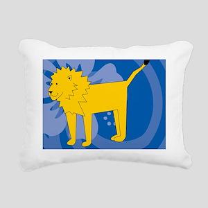 Lion Power Bank Rectangular Canvas Pillow