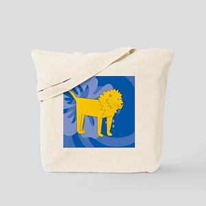 Lion Square Car Magnet Tote Bag