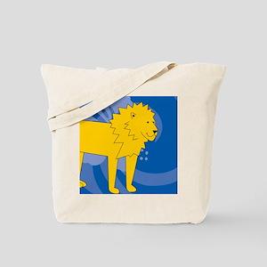 Lion Round Car Magnet Tote Bag
