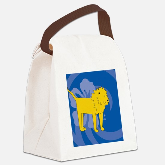Lion Heart Pet Tag Canvas Lunch Bag