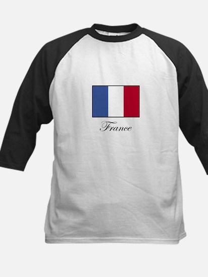 France - Flag of France Kids Baseball Jersey