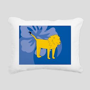 Lion Rectangular Hitch C Rectangular Canvas Pillow