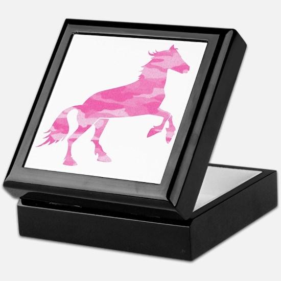 Pink Camo Horse Keepsake Box