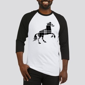 Black Plaid Horse Baseball Jersey
