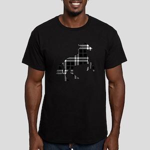Black Plaid Horse Men's Fitted T-Shirt (dark)