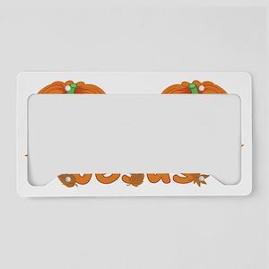 Halloween Pumpkin Jesus License Plate Holder