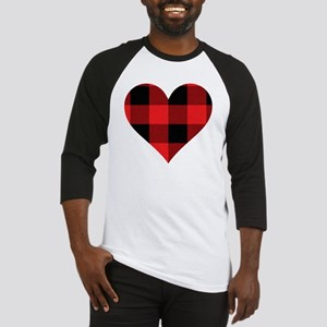 Red PLaid Heart Baseball Jersey