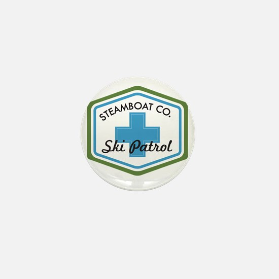 Steamboat Ski Patrol Patch Mini Button