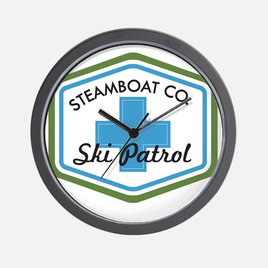 Steamboat Ski Patrol Patch Wall Clock