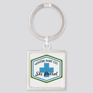 Winter Park Ski Patrol Patch Square Keychain