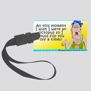 Flip You Off Large Luggage Tag