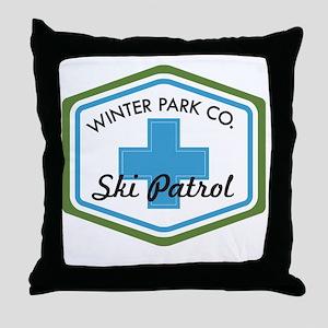 Winter Park Ski Patrol Patch Throw Pillow