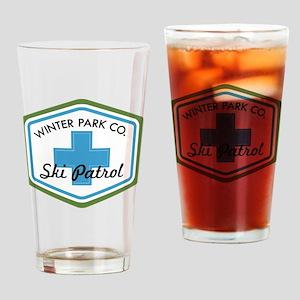 Winter Park Ski Patrol Patch Drinking Glass