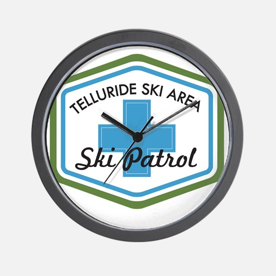 Telluride Ski Patrol Patch Wall Clock