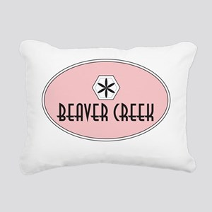 Beaver Creek Retro Patch Rectangular Canvas Pillow