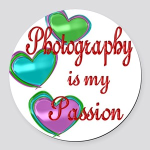 Photography Passion Round Car Magnet