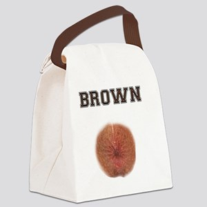 Brown Canvas Lunch Bag