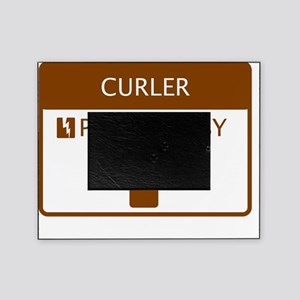 Curler Powered by Coffee Picture Frame