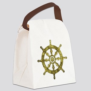 Dharmacakra - Wheel Of Dharma Canvas Lunch Bag