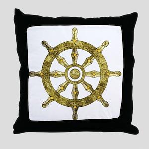 Dharmacakra - Wheel Of Dharma Throw Pillow
