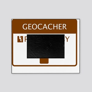 Geocacher Powered by Coffee Picture Frame