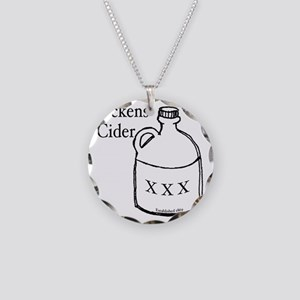 Dickens Cider Necklace Circle Charm