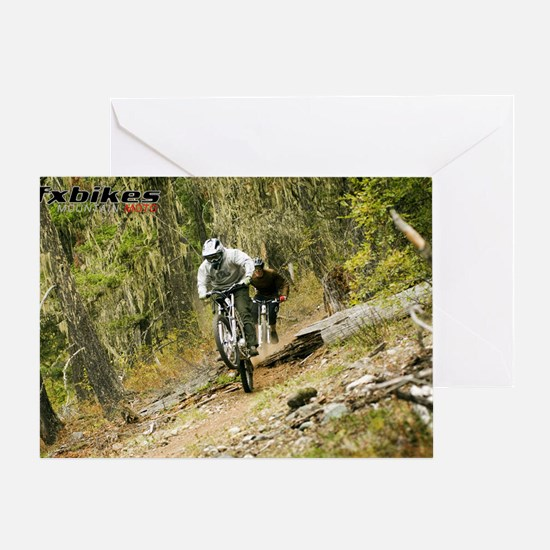 FX Bikes Forest Chase Greeting Card