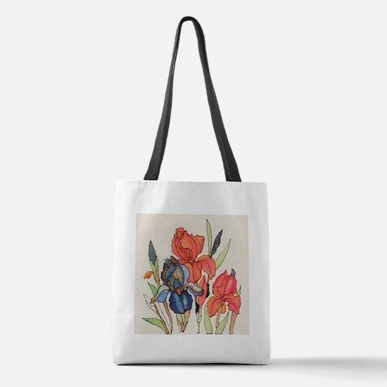 IRIS FLOWER Polyester Tote Bag