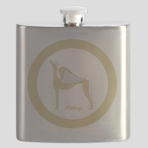 OAKEY ANGEL GREY ROUND ORNAMENT Flask
